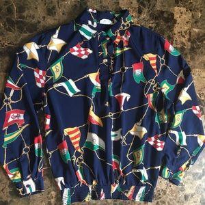 vtg alfred dunner long sleeve blouse sz 12